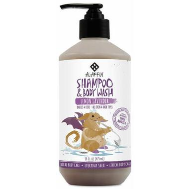 Alaffia Baby & Kid\'s Shea Shampoo & Body Wash Lemon Lavender