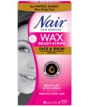 Nair Wax Ready Strips For Face & Bikini With Rice Bran Oil