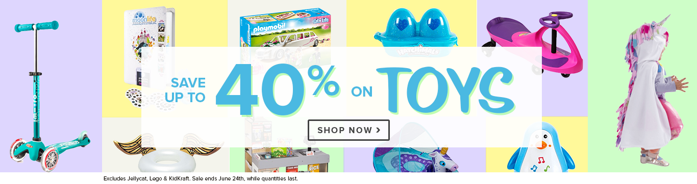 Save up to 40% off Toys