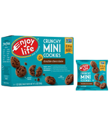 Enjoy Life Mini Crunchy Double Chocolate Cookies Snack Packs