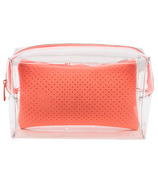 MYTAGALONGS Malibu Large Cosmetic Pouch Clear