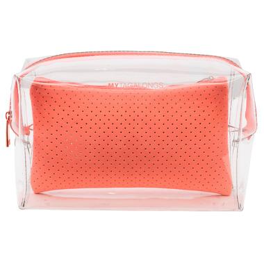 MYTAGALONGS Malibu Large Cosmetic Pouch Clear