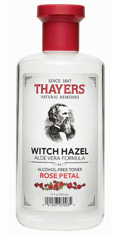 witch hazel rose water toner