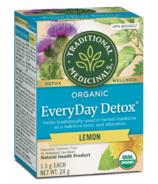 Thé de détoxification de tous les jours au citron biologique de Traditional Medicinals