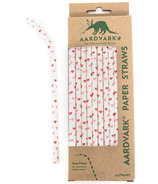 Aardvark Biodegradable Paper Straws Pink & Red Hearts
