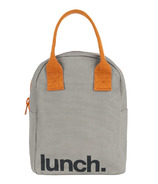 Fluf Zippered Lunch Grey/Pumpkin