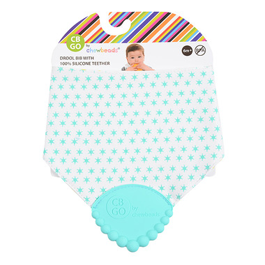 Chewbeads Drool Bib with Teether Turquoise