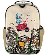 SoYoung x Pixopop Raw Linen Stitch Time Traveller Grade School Backpack