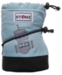 Stonz Baby Booties Robot Haze Blue