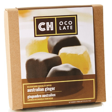 CH Ocolate Belgium Dark Chocolate Dipped Australian Ginger
