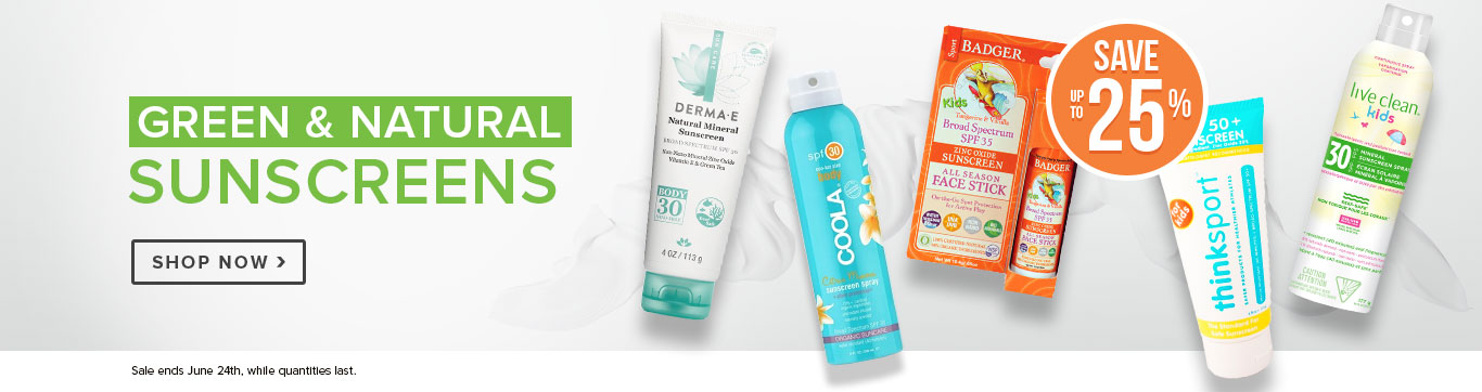 Save up to 25% on Best Green & Natural Sunscreen