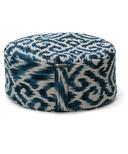 Halfmoon Mod Meditation Cushion Indigo Ikat