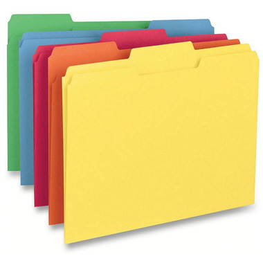 Business Source Coloured Tab File Folders