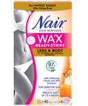 Nair Wax Ready Strips For Legs & Body With Milk And Honey