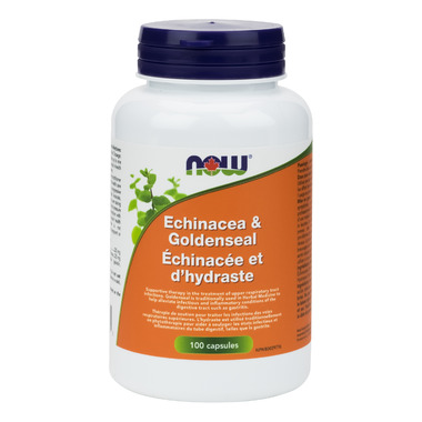 NOW Foods Echinacea & Goldenseal Roots 1:1 Blend 500 mg