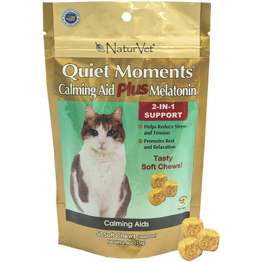 Naturvet Quiet Moments Calming Aid Plus Melatonin Soft Chews
