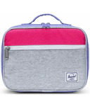 Herschel Supply Pop Quiz Lunch Box Light Grey Crosshatch Raspberry & Aster