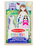 Melissa & Doug Princess Magnetic Dress-Up Wooden Dolls