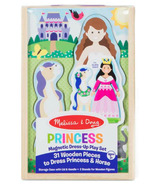 Melissa & Doug Princess Magnetic Dress-Up Wooden Dolls