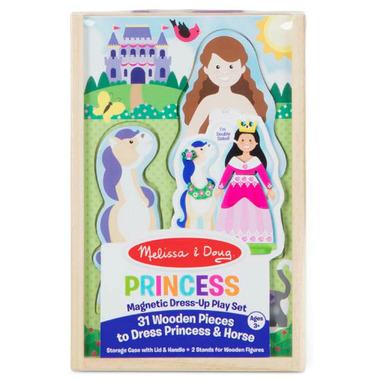 Melissa & Doug Princess Horse Magnetic Dress-Up Wooden Dolls