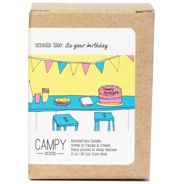 Campy Smells Like: A Happy Birthday Soy Candle