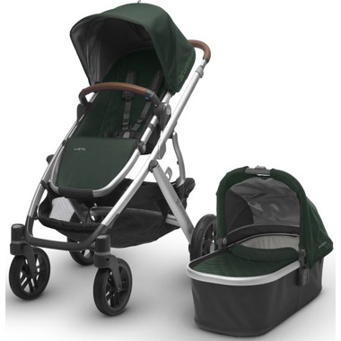 UPPAbaby Vista Stroller Austin Hunter with Leather Accents
