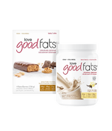Love Good Fats Vanilla Shake + Peanut Butter Chocolatey Snack Bar Bundle