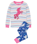 Hatley Rainbow Unicorns Kids Applique Pajama Set