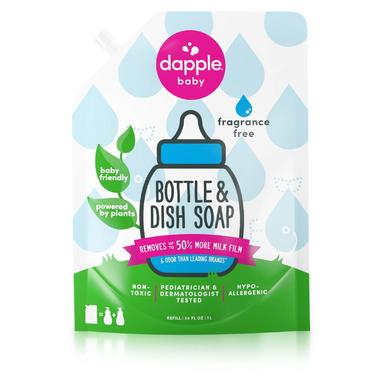 Dapple Baby Bottle & Dish Soap Fragrance Free Refill Size