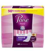 Poise Overnight Pads Ultimate Absorbancy