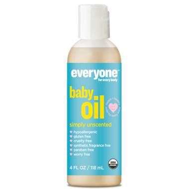 EO Everyone Organic Baby Oil Simply Unscented