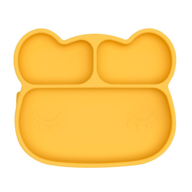We Might Be Tiny Bear Stickie Plate Yellow
