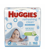 Huggies Refreshing Clean Baby Wipes Hypoallergenic 3 Pack