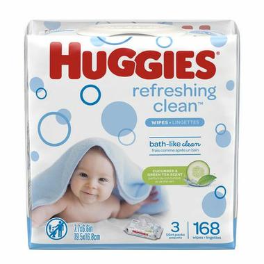 Huggies Refreshing Clean Baby Wipes Hypoallergenic 3 Pack