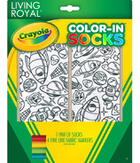 Crayola Living Royal Color-In Socks Out Of Orbit