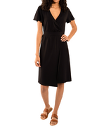 LNBF Taya Wrap Dress Black