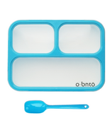 o bnto Bento Box 3 Compartment Blue