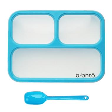 o bnto Bento Box 3 Compartment Blue
