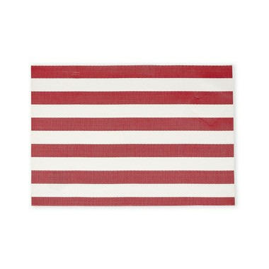 Harman Cabana Stripe Vinyl Placemat Red