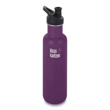 Klean Kanteen Classic Bottle with Sport Cap 3.0 Winter Plum