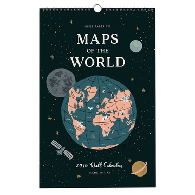 Rifle Paper Co. 2018 Maps of the World Calendar