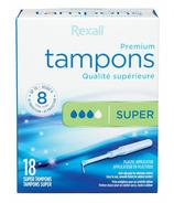 Rexall Plastic Applicator Tampons Super