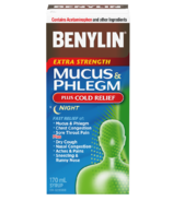 Benylin Extra Strength Mucus & Phlegm Plus Cold Relief Night Syrup