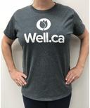 Well.ca Women's Ultra Cotton T-Shirt Dark Heather Grey