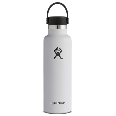 Hydro Flask Standard Mouth With Flex Cap White