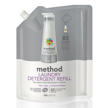 Method 8 x Laundry Detergent Refill Free + Clear