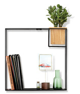 Umbra Cubist Wall Display Large Sand/Black