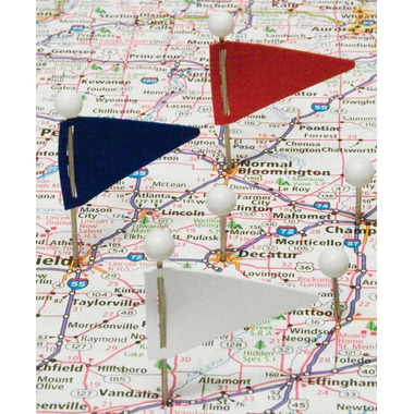 Gem Triangular Map Flags