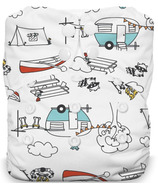 Thirsties Natural One Size All in One Snap Diaper Happy Camper