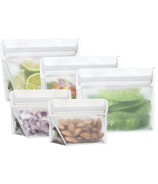 (re)zip Stand-Up 8oz Reusable Snack Bags Set Clear